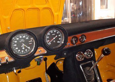 Klassieke auto restauratie Alfa dashboad