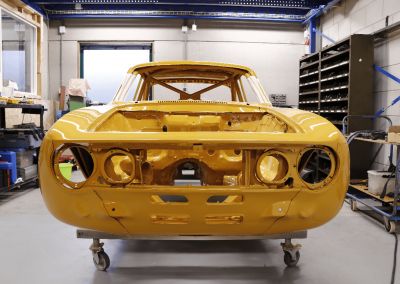 Restauratie Alfa 1750 GTAM carrosserie
